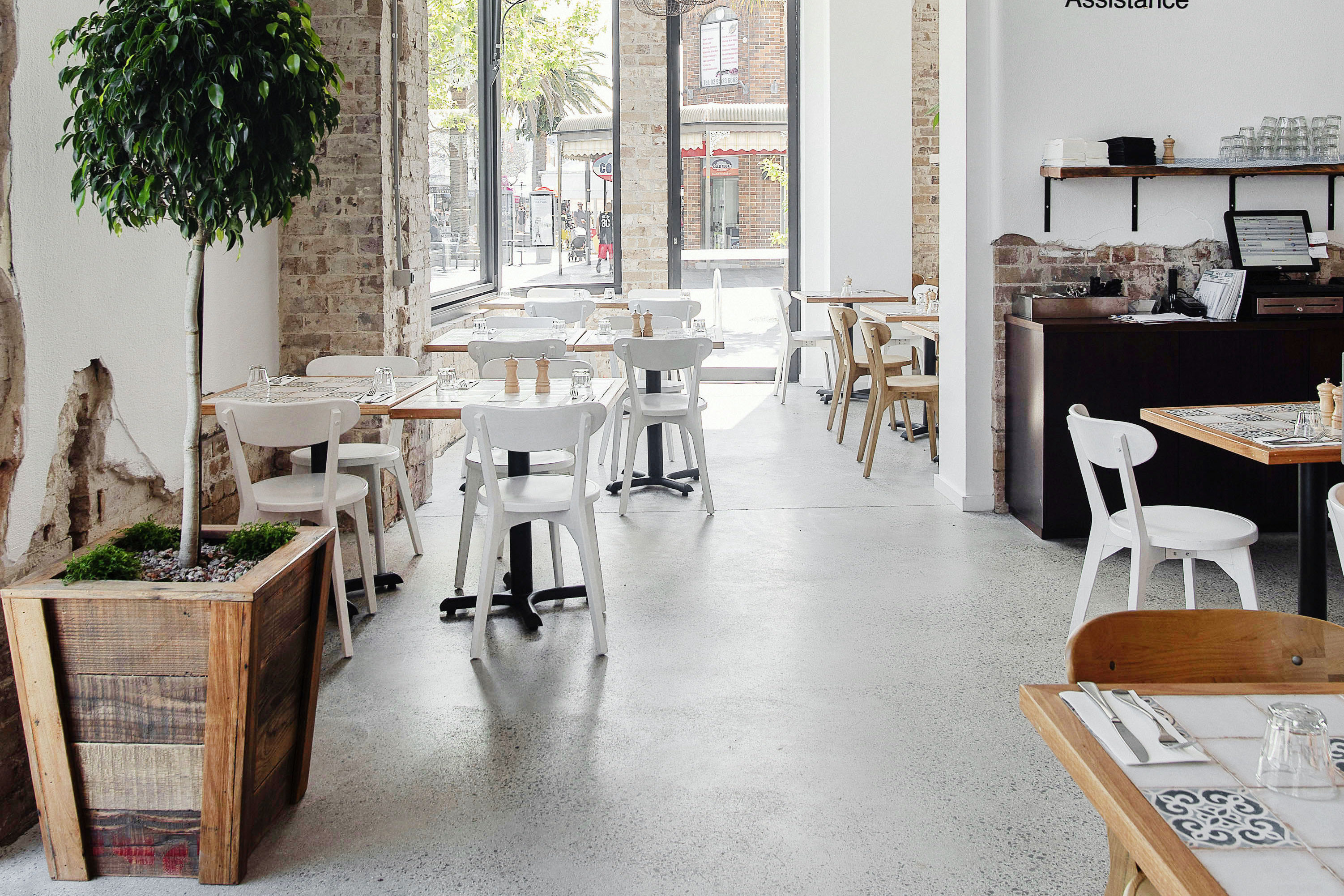 Cafe Polished Concrete
