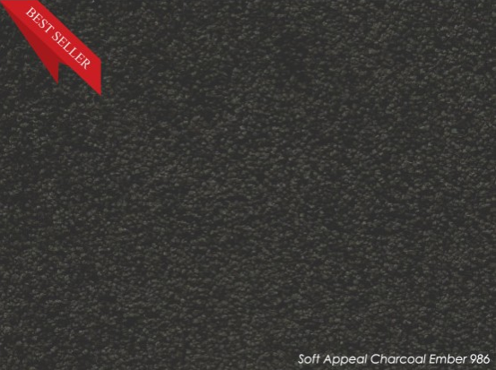 Tuftmaster Soft Appeal Charcoal Ember Carpet