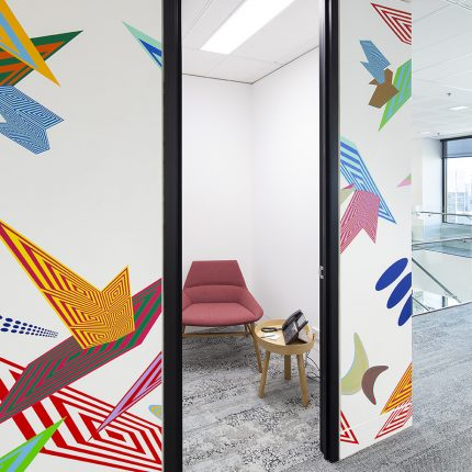 Sydney CBD Office Fitout Using Interface Human Nature Carpet TIles